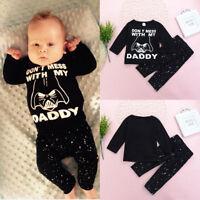 2pcs Newborn Baby Boy Girl Star Wars Clothes T-shirt Tops+Pants Kids Outfits Set
