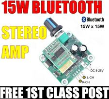 More details for bluetooth 15w+15w stereo audio power amplifier.  free 1st class post.