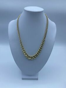 """18ct Gold Curb Chain Necklace For Women - 18"""", 5-8mm, 33.6g"""