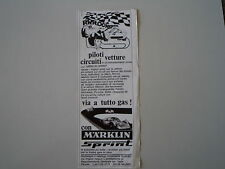advertising Pubblicità 1969 PISTA MARKLIN SPRINT