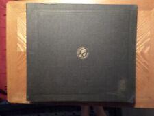 "VINTAGE COLUMBIA 12"" 78 RECORD STORAGE BOOK/FOLDER/12 POCKET/ VG/ RIPPED"