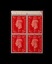 GB BOOKLET PANE SG 463ab 1940 Ltly M/M W/M S/W