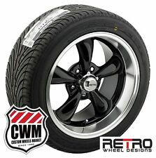 18 inch 18x8 / 18x9 Staggered Black Wheels Rims BFG Tires for Chevy Camaro 67-81