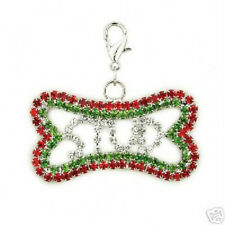 "Holiday Bling Bone Dog Collar Charm STUD 2"" Jewelry"