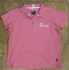 ADIDAS climalite stretch. Girls polo shirt.  Large. Pink.