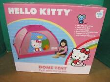 """HELLO KITTY 5 FT X 3 FT 2 POLE DOME TENT WITH ZIP """"T"""" DOORS 3' CENTER HEIGHT"""