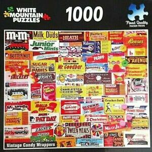 1000 PIECE JIGSAW PUZZLE VINTAGE CANDY WRAPPERS COMPLETE EXCELLENT COND
