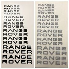 8pc Custom Range Rover Brake Caliper Vinyl Sticker Decal Logo Overlay Graphic