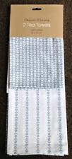 Paños de cocina color principal azul 100% algodón