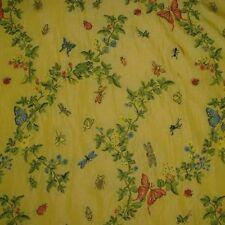 3 yds Scalamandre Yellow Jour de Juin Design Fil Coupe Lampas Upholstery Fabric