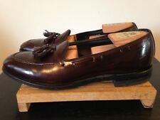Mens Stafford Burgundy Leather Tassel Loafers-11N-Made in USA