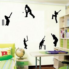 6 cricketers wall stickers cricket ipl boy girl bedroom