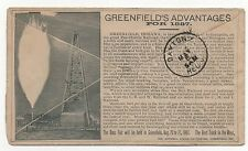 ADV COVER Greenfield's Advantages for 1887 All over Cover Indiana