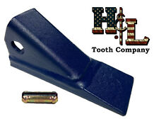 24SP 0772832 H&L Tooth Bucket Teeth USA Made 5 Pack + Pins, CAT Rayco Compactors