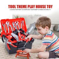 47-teilig Werkzeugkoffer für Kinder Werkzeugkasten Set mit Bohrmaschine Werkzeug