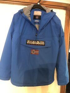 Napapijri Over The Head Hooded Jacket In Blue Size XL