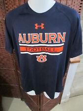 Under Armour Auburn Tigers Football Athletic Shirt T Shirt Size Mens Medium