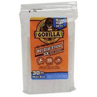 Gorilla Glue 3023003 Hot Glue Sticks 4 In. Mini Size, 30 Count