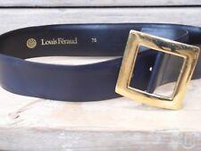 LOUIS FERAUD NAVY & GOLD LEATHER WOMEN'S  BELT - SIZE 76, 71-81CM,