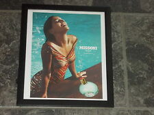Missoni acqua perfume-2007 Original advert framed