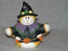 "Midwest Eddie Walker Orange Cat Witch Roly Poly Halloween Trick or Treat 6"" Tall"