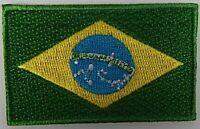 Brasilien Aufnäher gestickt,Flagge Fahne,Patch,Aufbügler,6,5cm,neu