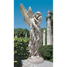 "Heaven's Guardian Angel Antique Stone Finish Design Toscano 38"" Garden Statue"