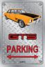Parking Sign - Metal - HOLDEN HQ - GTS 4 DOOR - ORANGE - WIRE WHEELS