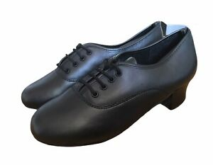 Jazz Tap Salsa Dancing Ballroom Latin Dance Shoes Black Sizes 12,13, 2, 3, 8