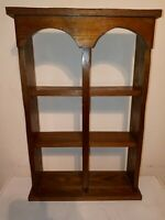 Vintage Wood Wall Tea Cup and Saucer Curio Knick Knack Display Shelf