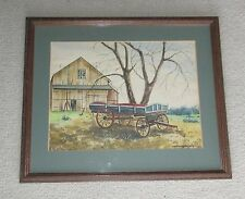 Thomas F. Hermansader Original Watercolor 1976 (Lancaster County, PA)