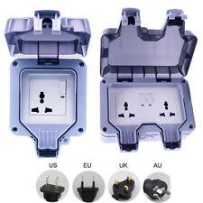 Weatherproof Outdoor 13A 1/2Gang Switched Socket IP66 Fit For US&EU&UK&AU Plug