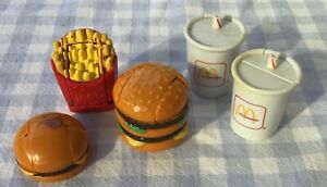 1990 McDonald's Toys Transformers Cheeseburger Cola Fries