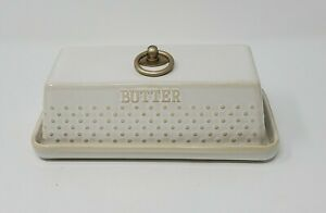 Dotted Modern Farmhouse Butter dish w/ Lid