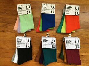 Vtg. American Apparel 3-Pack Summer Socks Choice of Colors USA Made