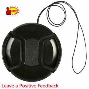 55mm Front Lens Camera SLR Cap Protection Cover Dust Cover W/ String  New
