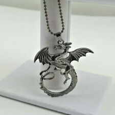 Drachen Drache Flügel Kette mit Anhänger alt Silber Neu I