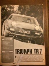 Reportaje Automóvil Triumph TR 7 De 1976