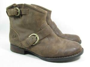 Born Shea Shearling Lined Suede Belted Boot Women size 9 Brown