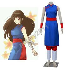 Custom-made Dragon Ball Z Chichi Cosplay Costume Halloween Costume Blue