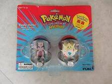 Pokemon ~ Release & Capture Mewtwo & Togepi Pokeball Keychains ~ Basic Fun 1999