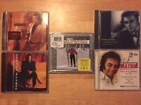 JOHNNY MATHIS Merry Christmas CD BRAND NEW SEALED + RARE PROMO CD + 3 More CD's!