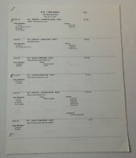 ONE TREE HILL set used SHOOTING SCHEDULE ~ Season 1, Episode 13