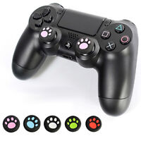 AU_ FT- 2pcs  Paw Silicone Thumbstick Grip Game Cap for    One/360