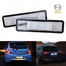 2X Vauxhall Opel LED License Number Plate Light No Error Speedster Signum VX220