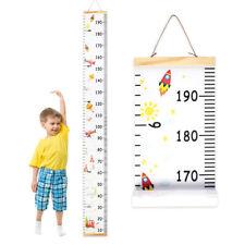 Wooden Wall Hanging Kids Growth Chart Children Room Height Measure Ruler UK
