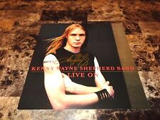 Kenny Wayne Shepherd Rare Authentic Signed Promo Poster Flat Live On + Photo KWS