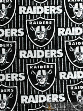 NFL Oakland Raiders All Over Licensed Fleece Fabric NL-NFL-60-OT