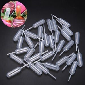 Pack of 100 Plastic Squeeze 4ml Transfer Pipettes Dropper For Cupcake Ice Cream