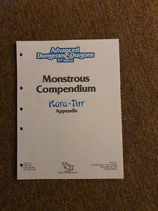 AD&D / D&D / Advanced Dungeons & Dragons  MC 6 Kara-Tur Appendix TSR 2116